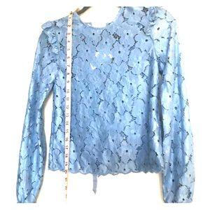 H&M Light Blue Lace Blouse
